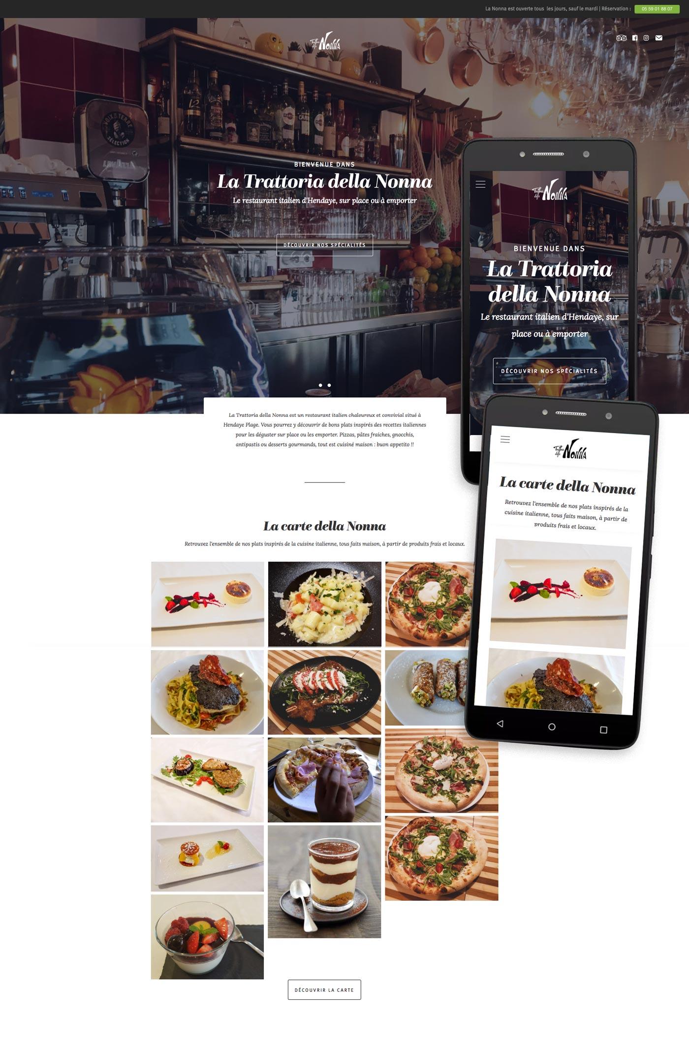 Tatziki-webdesign Trattoria della Nonna - Home