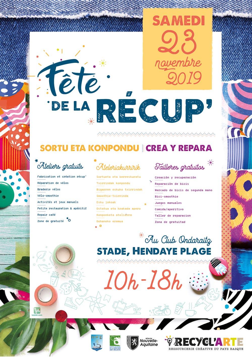 Extrait Fête de la récup 2019 - Association Recyclarte Hendaye Tatziki