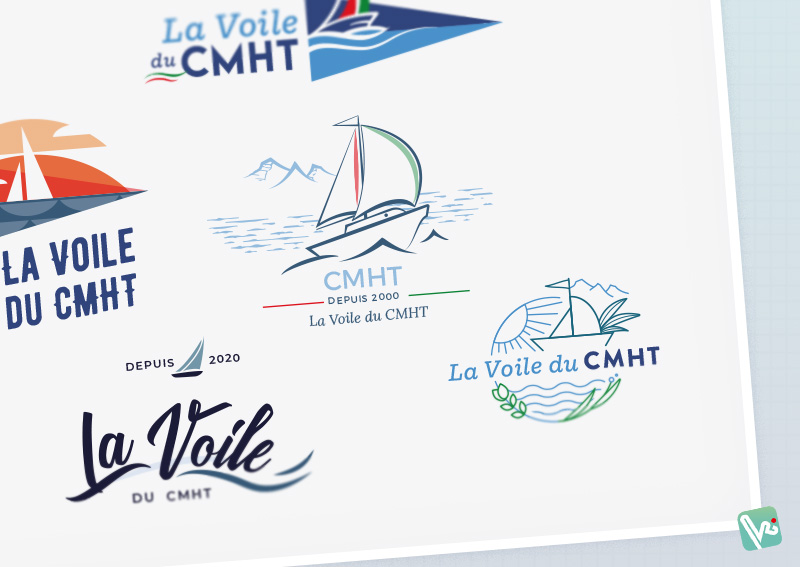 @Tatziki-charte graphique logo Centre Maritime Hendaye Txingudi - Section voile