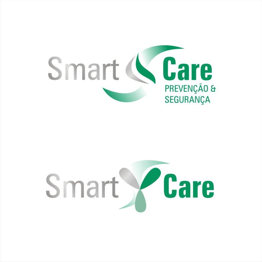 Logotipo SmartCare loja prevenção Covid19 mistura das versões recentes e uma variação de cores