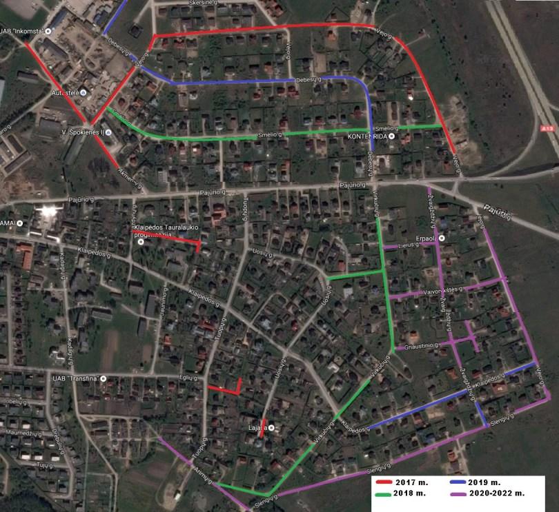 Artimiausiu metu numatytos asfaltuoti Tauralaukio regiono gatvės