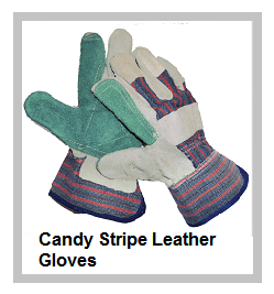 Candy Stripe Gloves - Green Double Palm