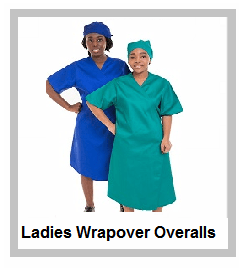 Ladies Wrapovers in Royal Blue - Red and Emerald Green