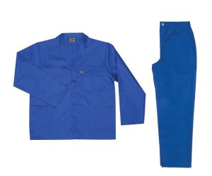 Royal Blue 2piece conti suit overalls (poly-cotton)