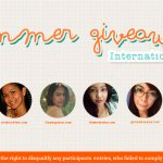 SUMMER #GIVEAWAY INTERNATIONAL (closed)