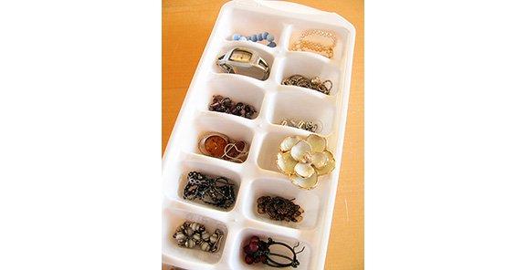 5 Ice Cube Tray = Jewelry Organizer