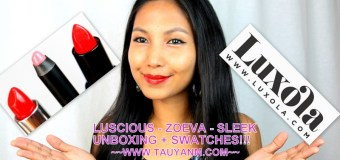 Read My Lipstick Campaign via www.luxola.com 3 Lipsticks Review