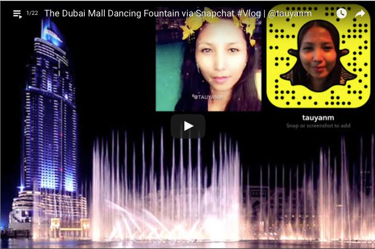 The Dubai Mall Dancing Fountain