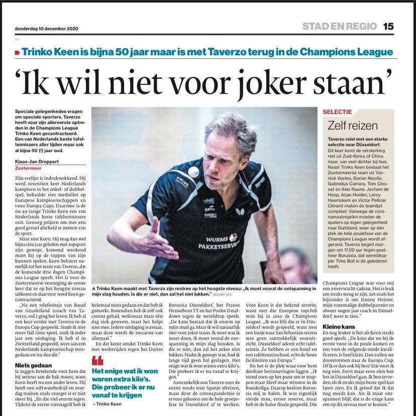 Artikel Klaas-Jan Droppert (AD)