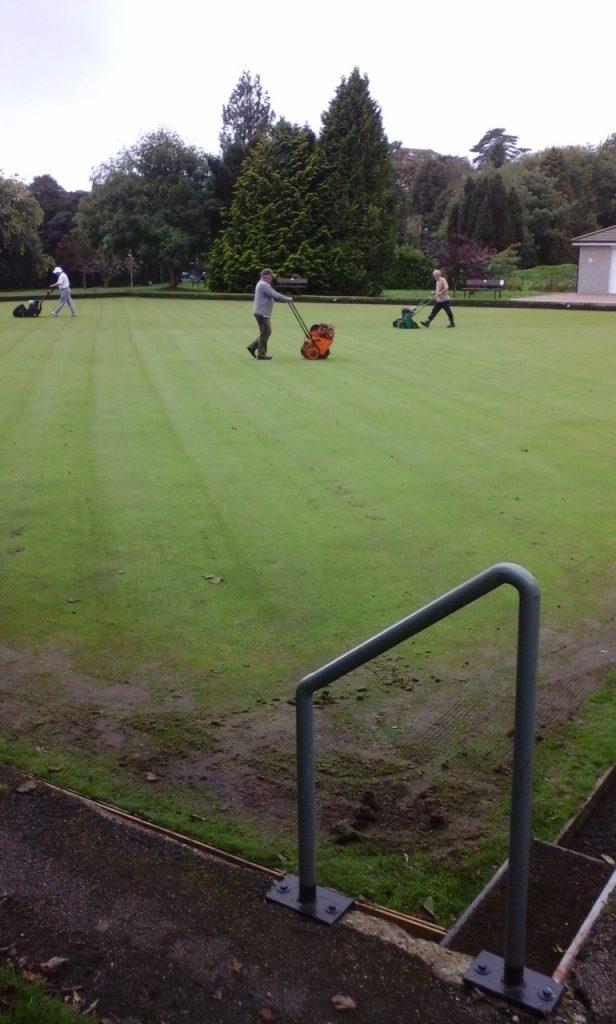 The Green Team hard at work on autumn renovation