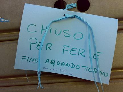 """Tavole Romane informa – """"chi chiude e quando"""" ad Agosto"""