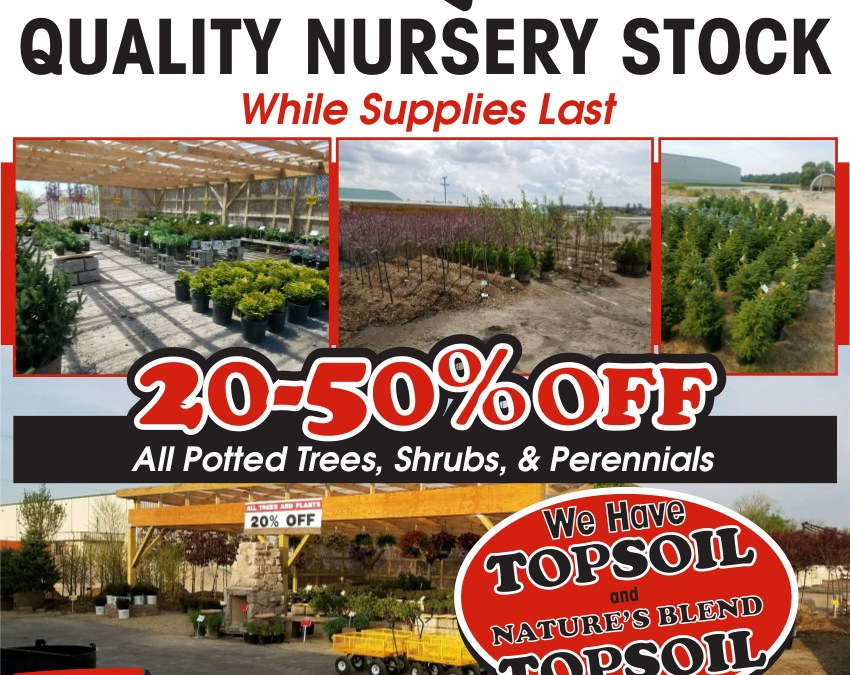 FALL NURSERY SALE