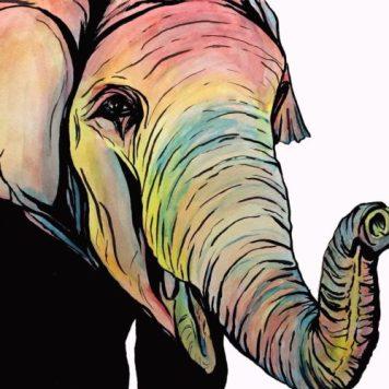 Watercolor Elephant, Elephant Art
