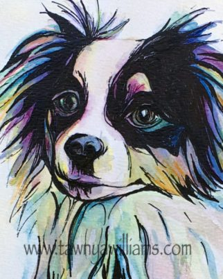Bandit, Watercolor Painting, Watercolor Animal, Dog Art, Dog Painting, Abstract Dog Art, Watercolor Ink