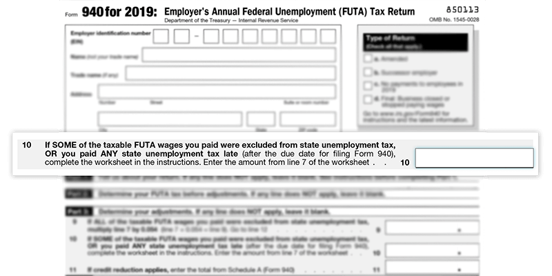 How To Calculate Line 10 On Form 940 Futa Tax Return
