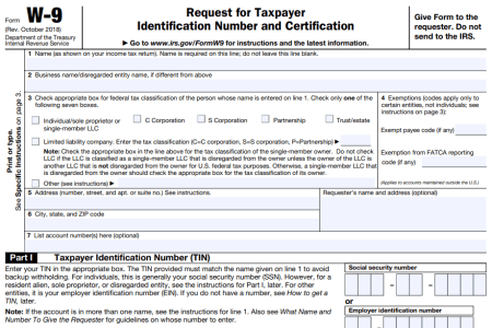 Free Letter Templates » taxpayer identification number form | Letter ...