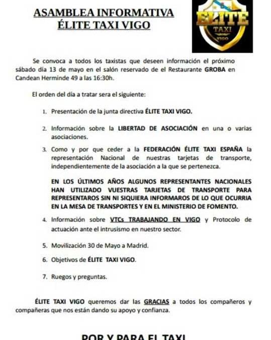 ASAMBLEA INFORMATIVA ÉLITE TAXI VIGO.