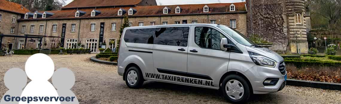 Groepsvervoer tot 8 personen in Limburg met Frenken Taxi's