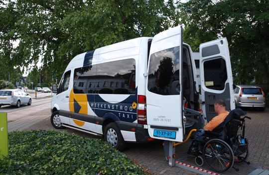 Taxi Weekenstroo rolstoelbus