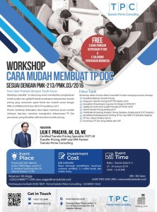 workshop transfer pricing taxindo prime consulting