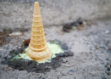 a dropped ice cream cone