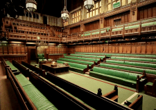 The House of Commons completely empty