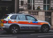 UK police jeep