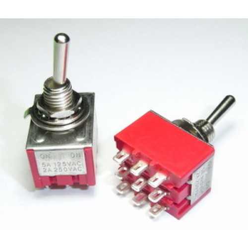 Mini Toggle Switch 3pdt On On