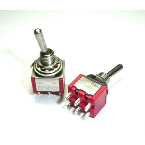 Mini Toggle Switch Dpdt On On