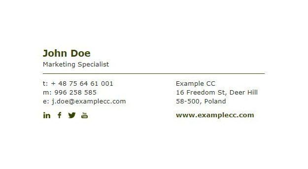 E-mail için logolu-logosuz imza