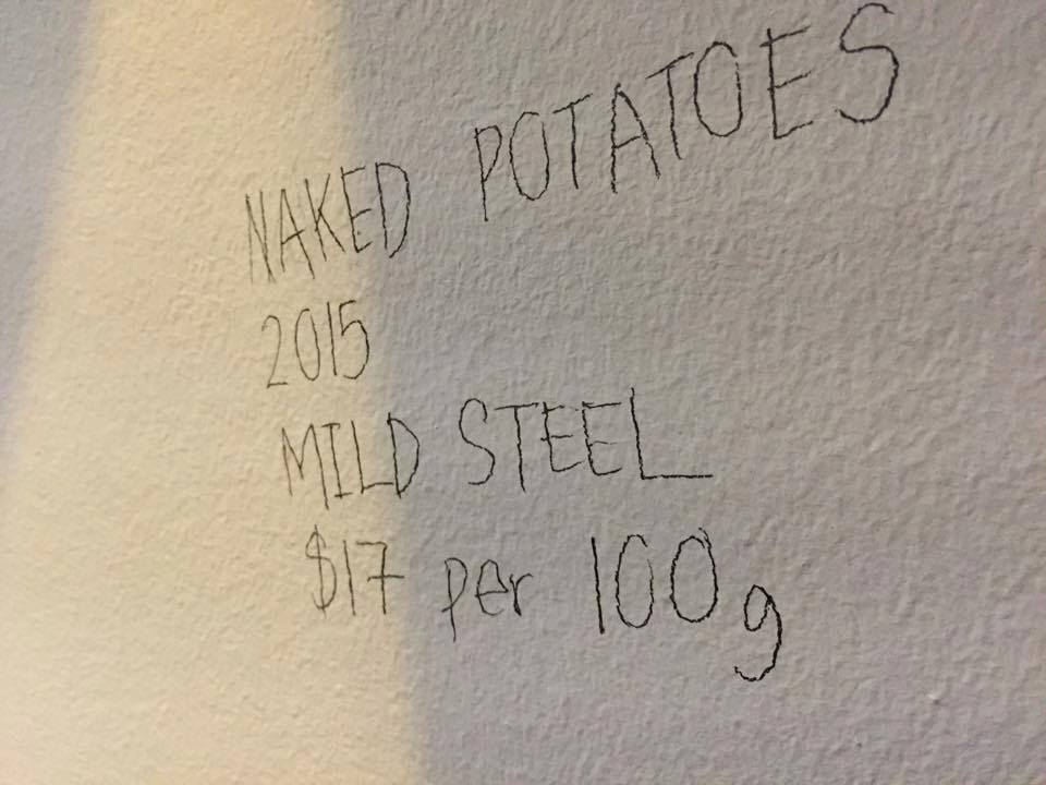 Naked Potatoes are selling at $17 per 100g