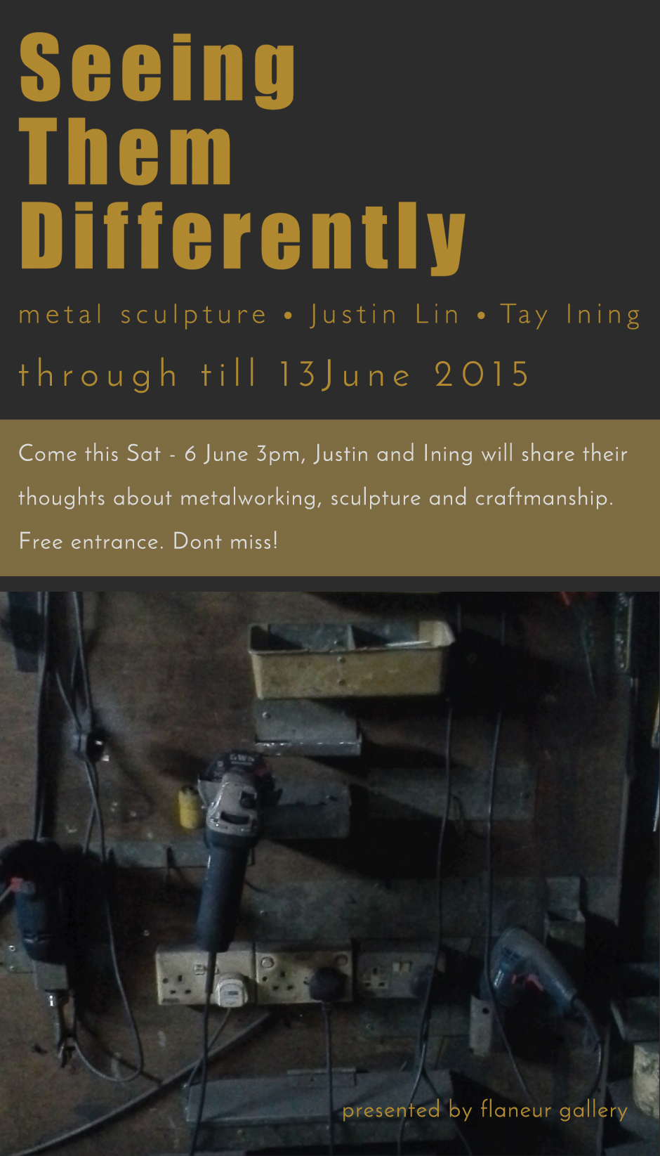Artists' Talk, Justin Lin and Tay Ining, 3pm at flaneur gallery
