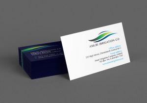 Amuri Irrigation Co Business Card