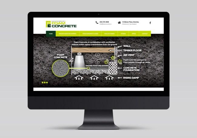 Canterbury Foam Concrete Website