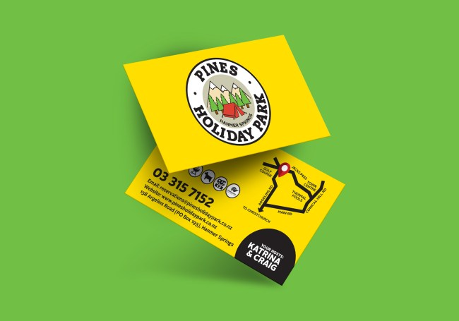 Pines Holiday Park Business Card