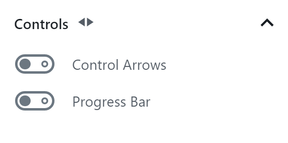 Toggle on or off advance and reverse arrows as well as a progress bar.