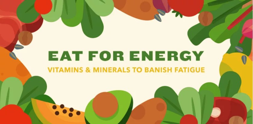 Eating for Energy - Foods that increase energy and boost stamina - Learn to Banish fatigue with food