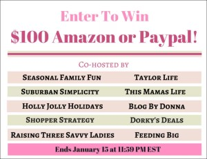 January Holiday Giveaway - $100 Amazon/Paypal