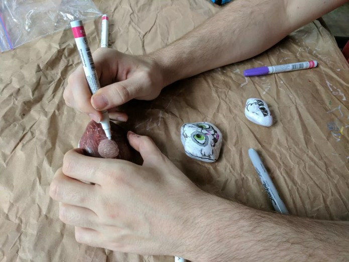 Rock Painting is easier with paint markers