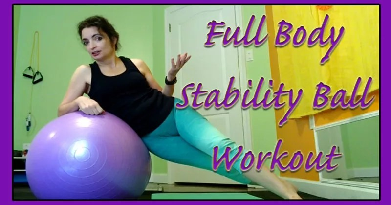 Full Body Stability Ball Workout using a Live Infinitely Exercise Ball