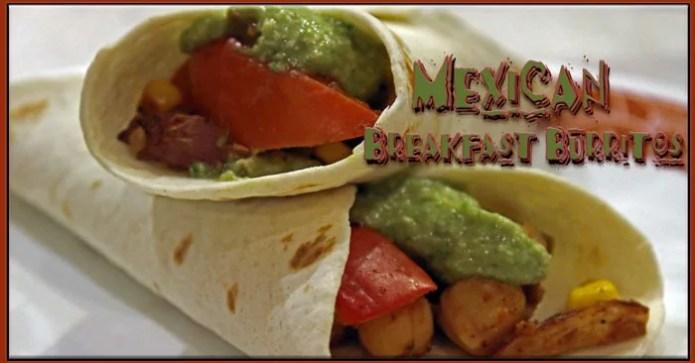 Vegan Mexican Breakfast Burritos feature a creamy avocado cashew sauce in place of sour cream.