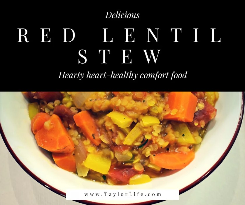 Red lentil stew a heart healthy dash diet comfort food taylorlife red lentil stew flavorful and filling this low sodium soup is perfect star forumfinder Choice Image