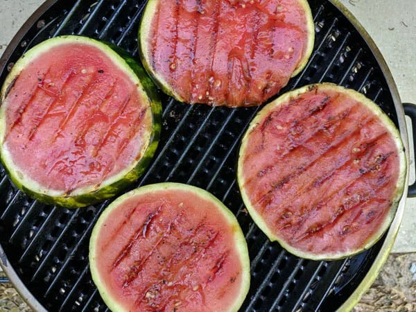 Watermelon Rounds on the grill