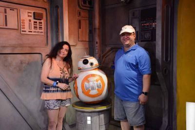 We got to meet BB8 at Disney Studios