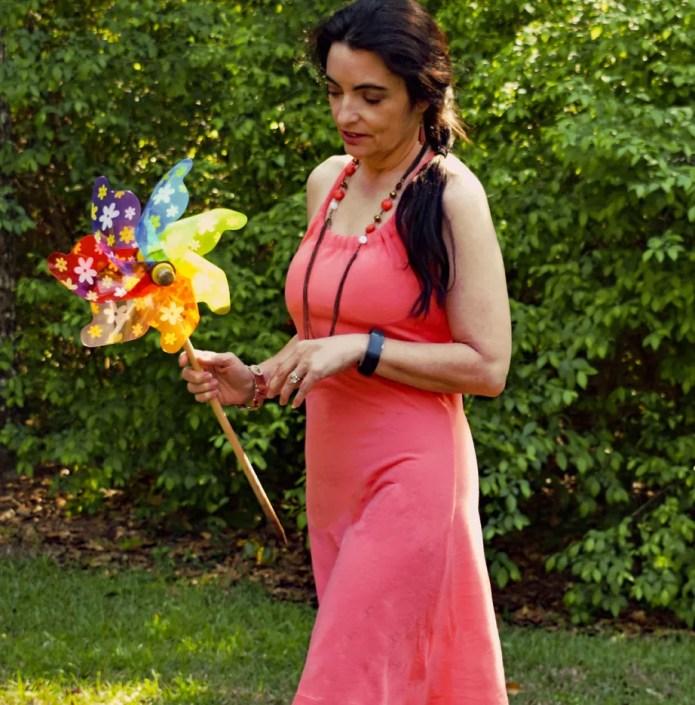 prAna Quinn Dress in Summer Peach
