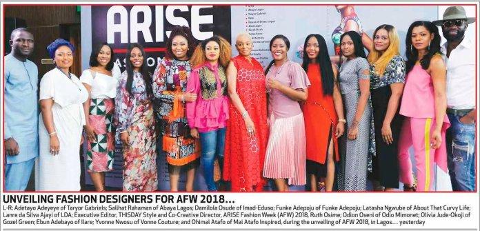 Meet the Designers! ARISE Fashion Week (AFW) 2018 Unveils Line-Up
