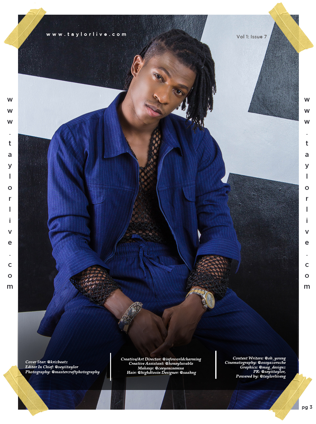 The Drummer Boy! KRIZBEATZ Covers Taylor Live Magazine's Latest Issue