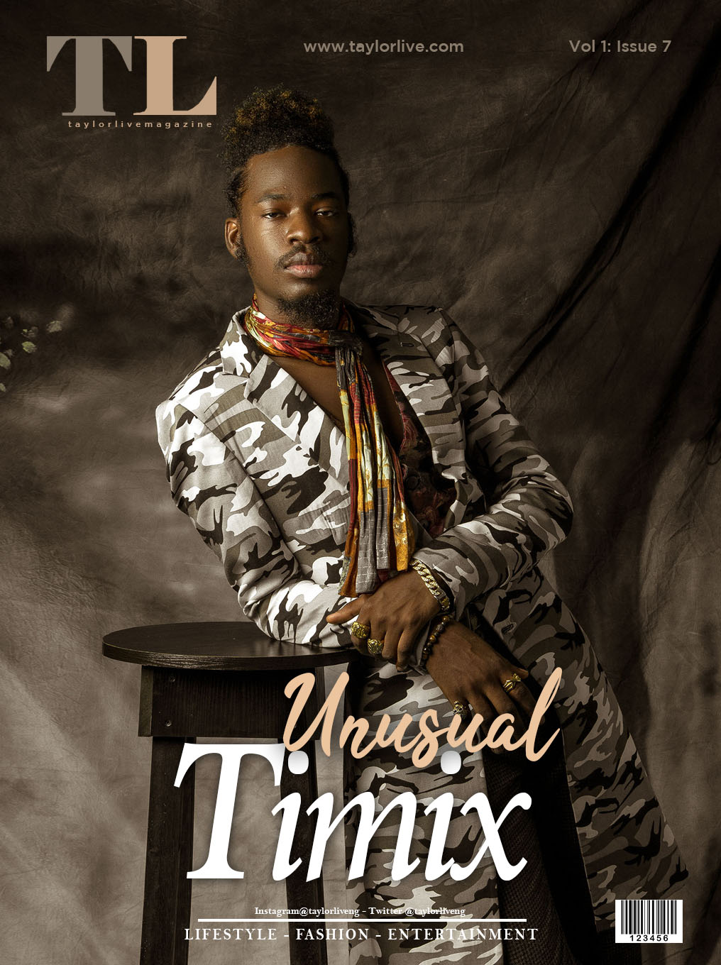 UNUSUAL Timix Covers Taylor Live Magazine's Latest Issue #TBT