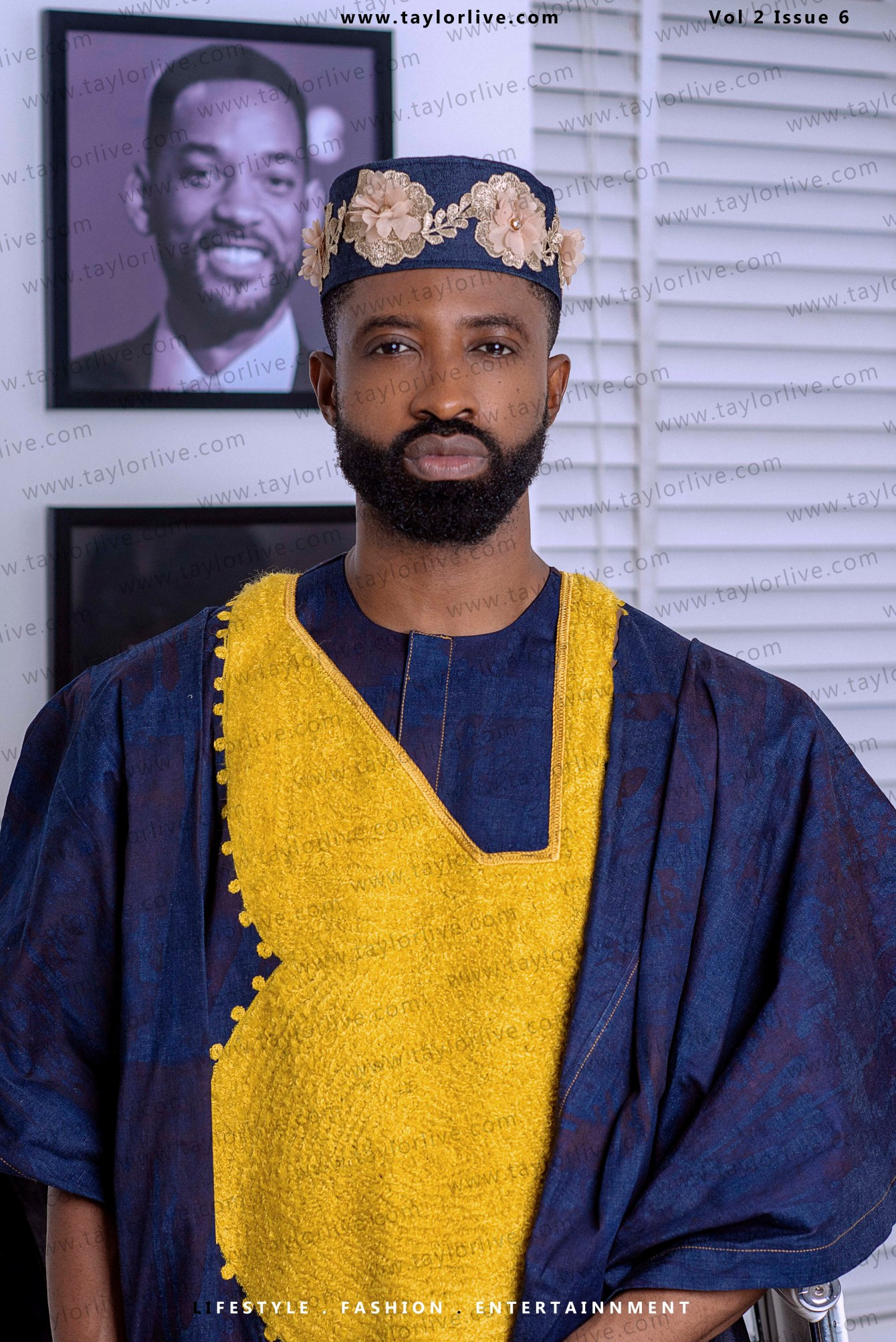 """MAN ON THE EDGE"" Ikechukwu Eric Ahiauzu popularly known as Ric Hassani Covers Taylor Live Magazine's Latest Issue (TL Magazine)."