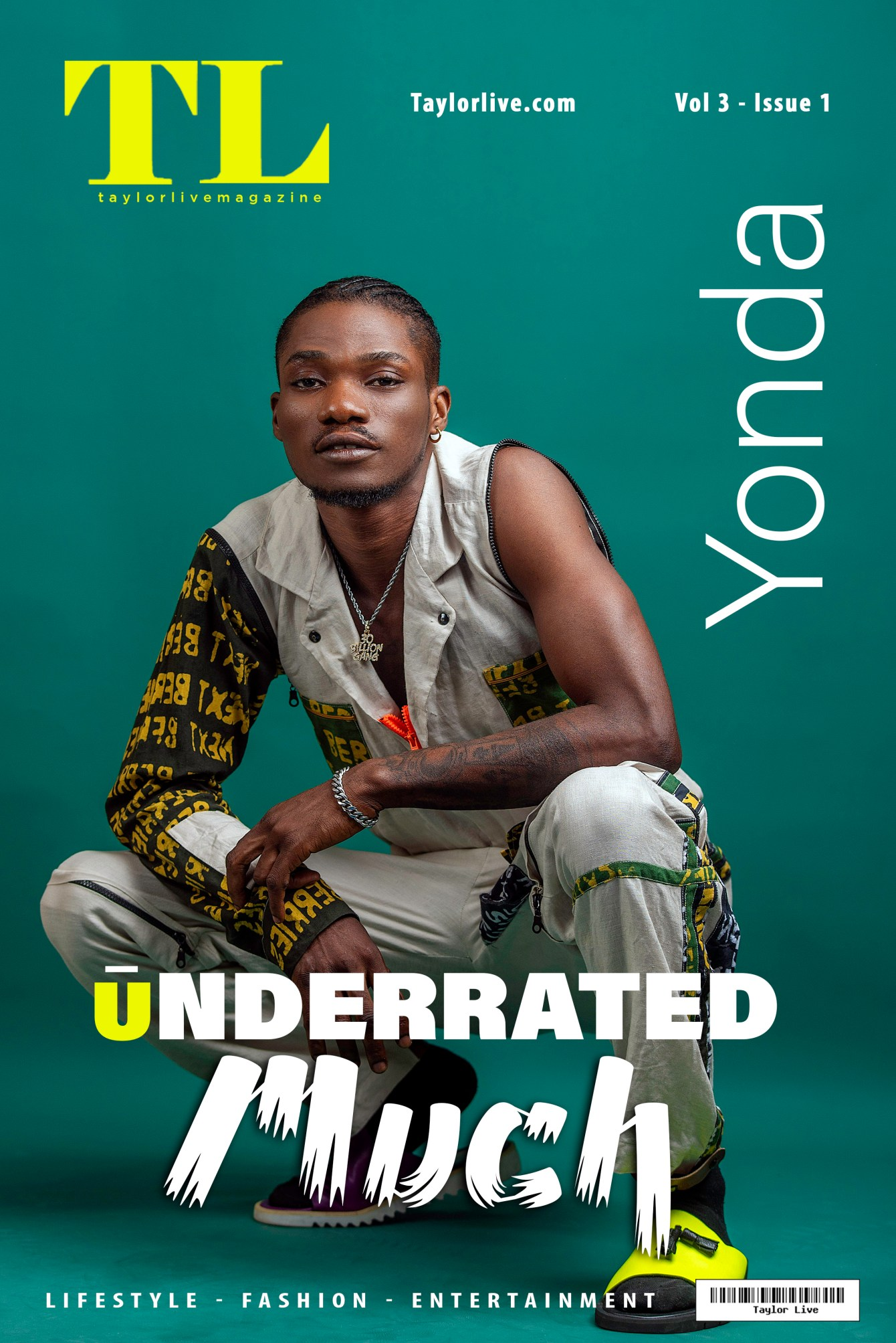 Underrated Much – Yonda Covers Taylor Live Magazine's Latest Issue